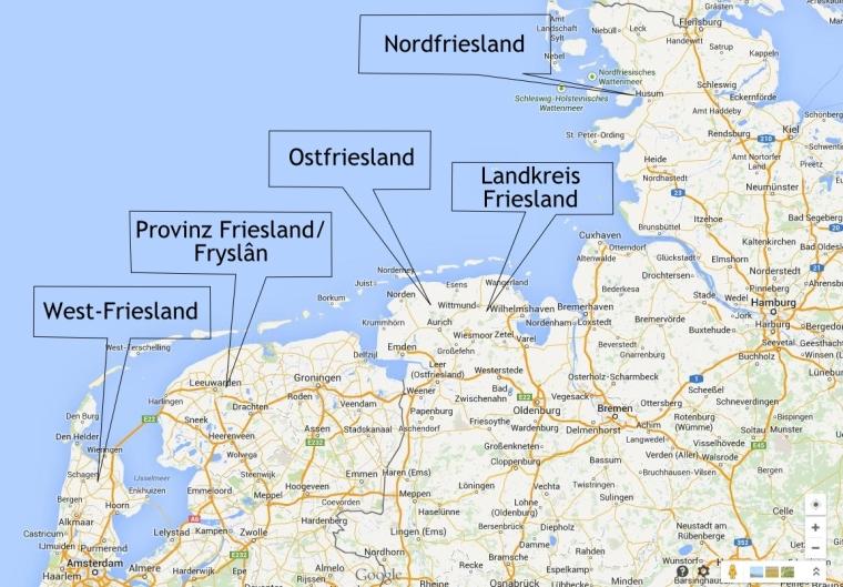Friesland heißen viele Landstriche in Deutschland und in den Niederlanden.