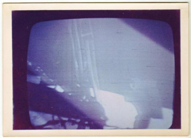 Mondlandung 1969 – der Fermseher konnte schon Farbe, die Nasa noch nicht.