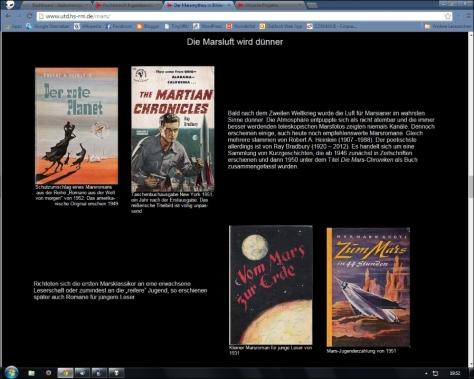 Screenshot der Mars-Seite