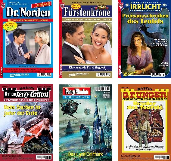 Nur eine kleine Auswahl von Titeln aus dem Heftroman-Sektor.