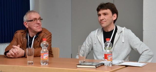 Auf dem Dortcon im März vergangenen Jahres verrieten Uwe Hermann (links) und Uwe Post ein wenig über das Projekt »Biom Alpha«.